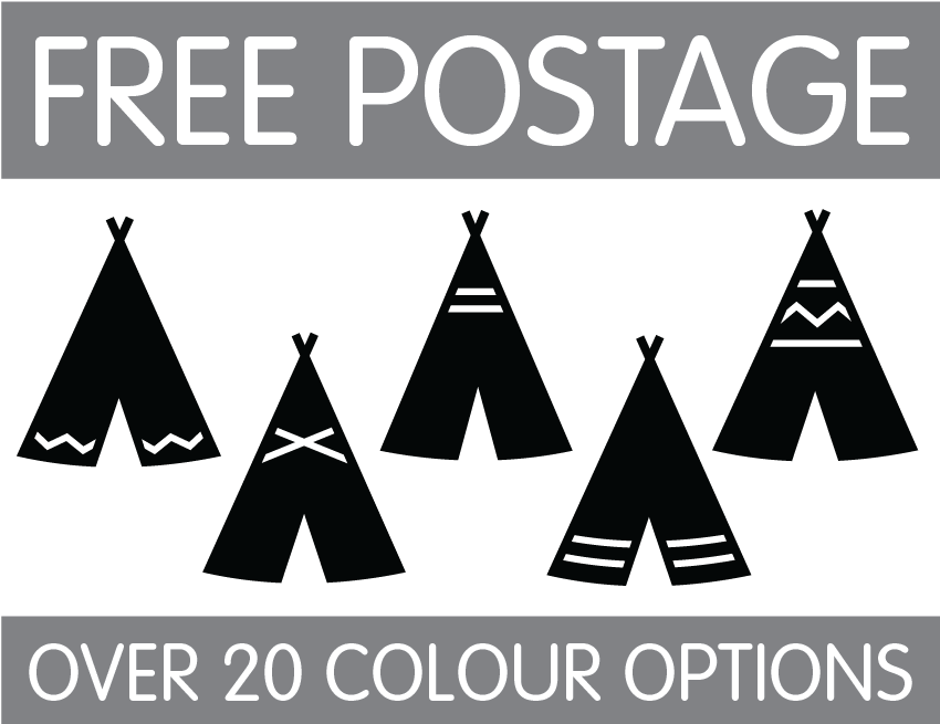 Teepee Silhouette Wall Stickers / Decals - Baby Nursery ...
