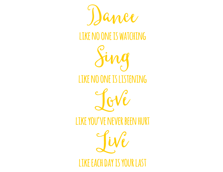 Bright Star Kids Wall Art Writing Quotes - Home Decor - Dance, Sing ...