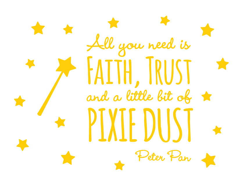 Bright Star Kids Wall Art Writing Quotes - Decor for Bedroom - Peter ...
