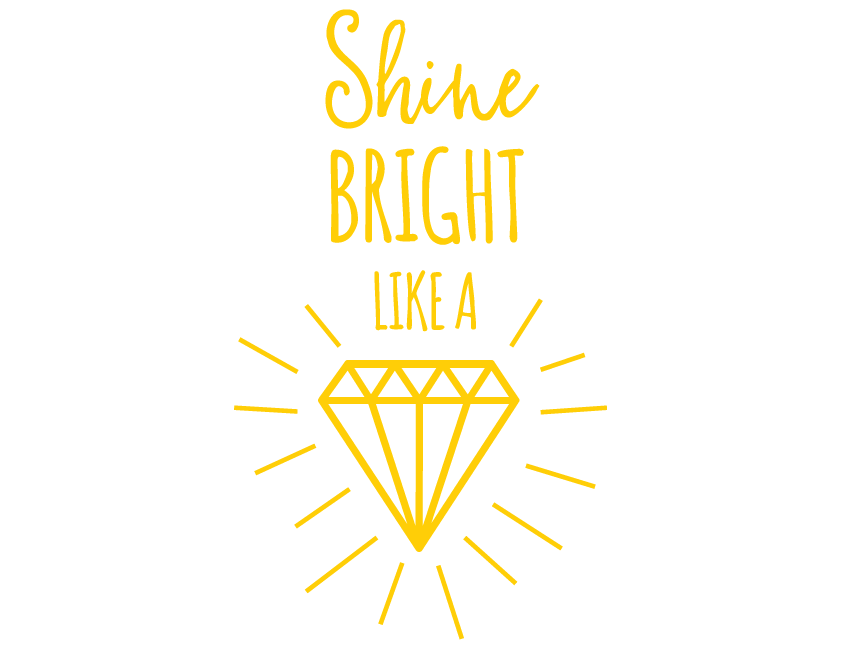 Bright Star Kids Wall Art Writing Quotes - Decor for Bedroom - Shine ...