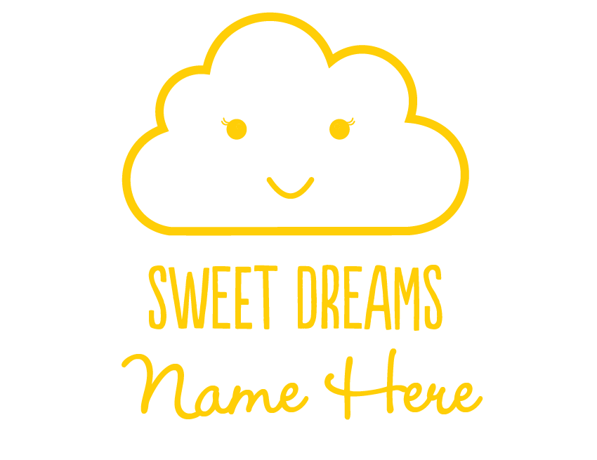 Bright Star Kids Personalised Wall Art Writing Quote - Sweet Dreams ...